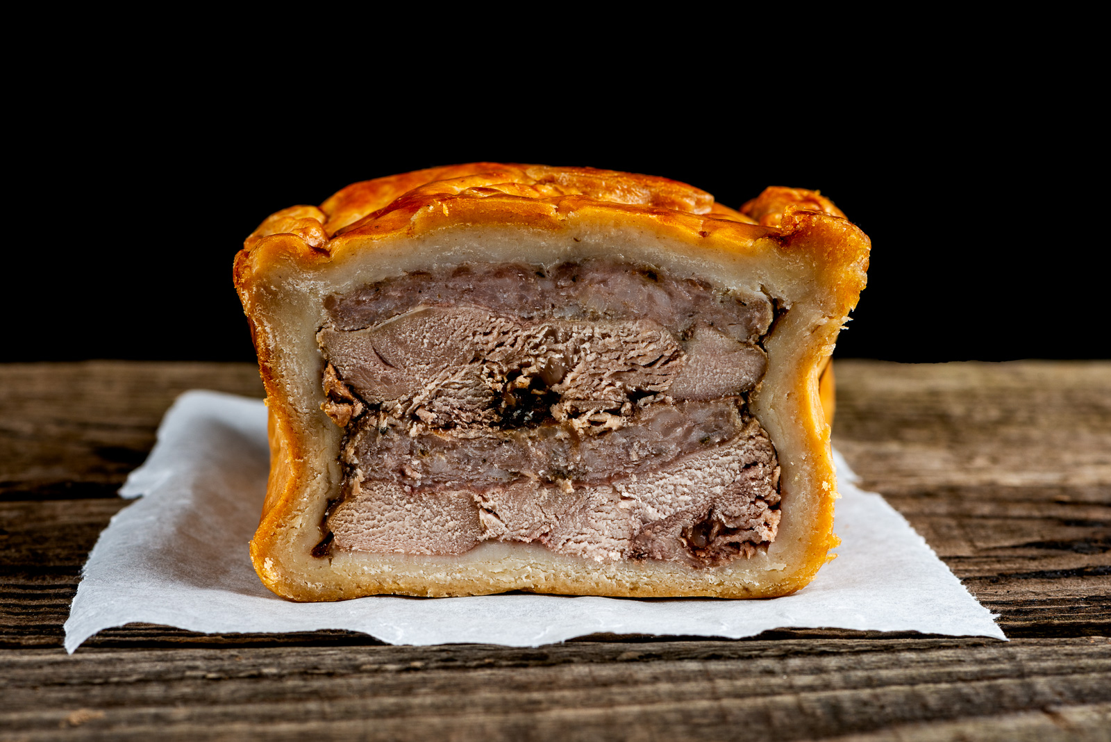 Game Pie from Hadrians Game Larder - Photography by Sue Todd Photography