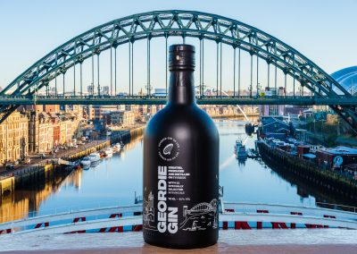 Geordie Gin shot on location from one of the famous Newcastle Bridges