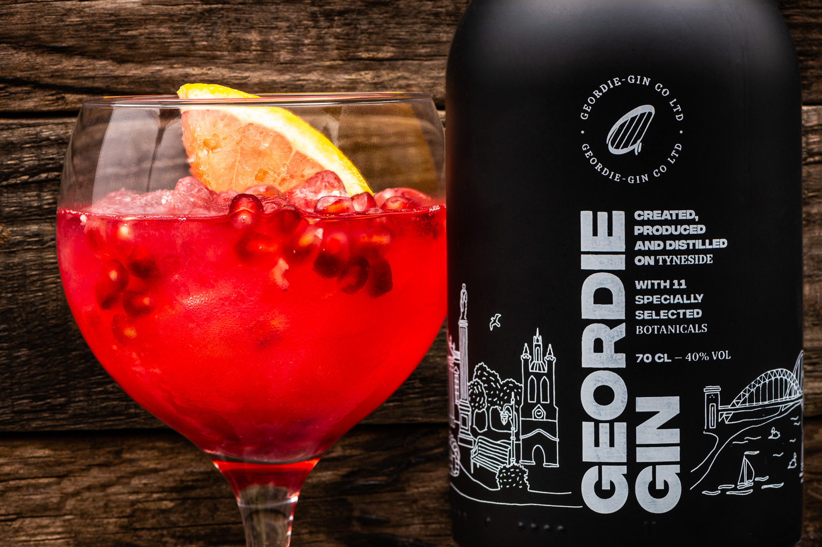Geordie Gin - Photography by Sue Todd Photography