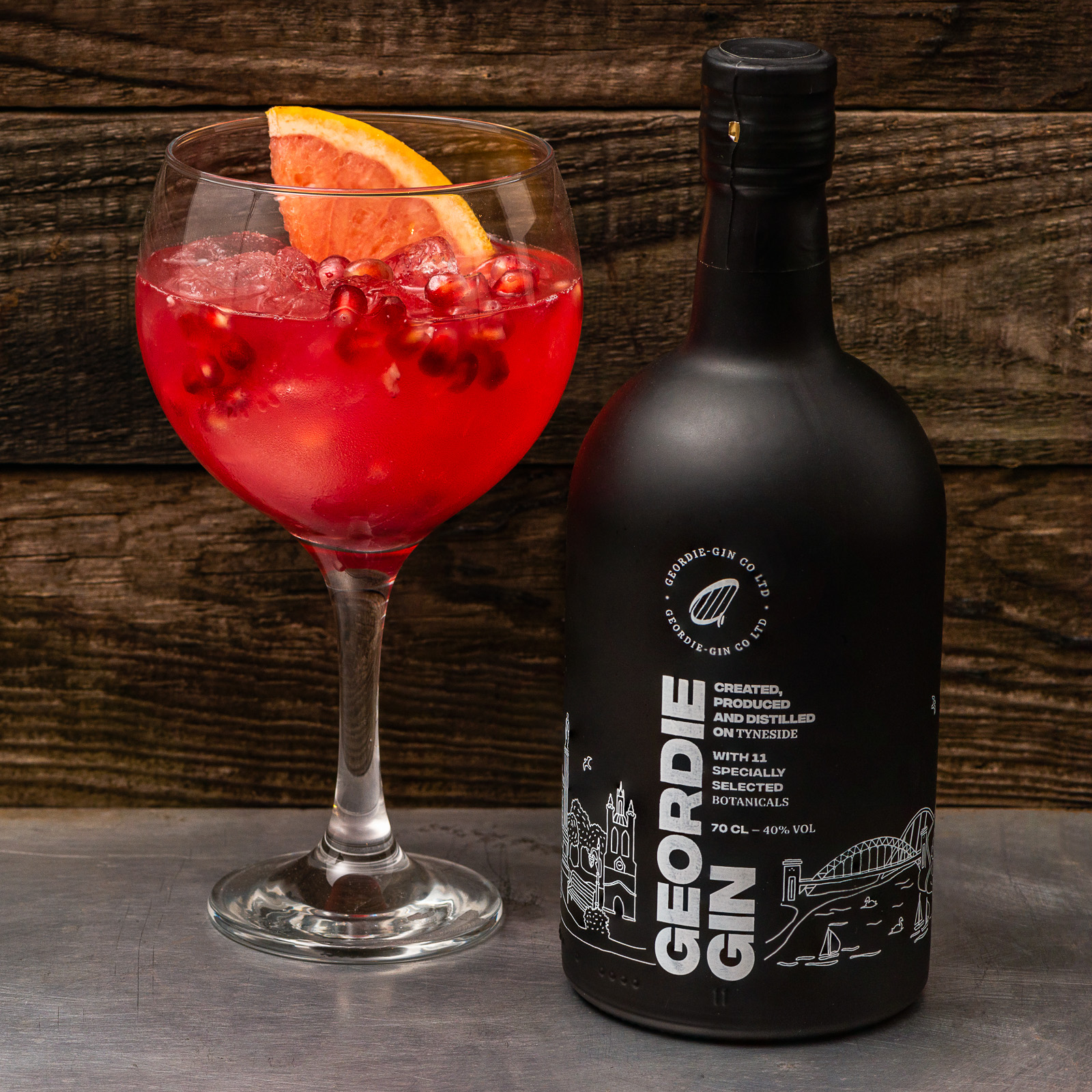 Pomegranate Cocktail - Geordie Gin - Photography by Sue Todd Photography