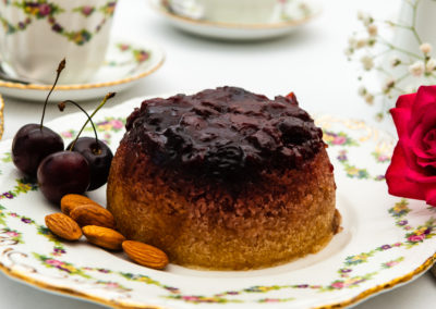 Cherry & Almond Pudding from Proof of the Pudding. Photography by Sue Todd Photography.