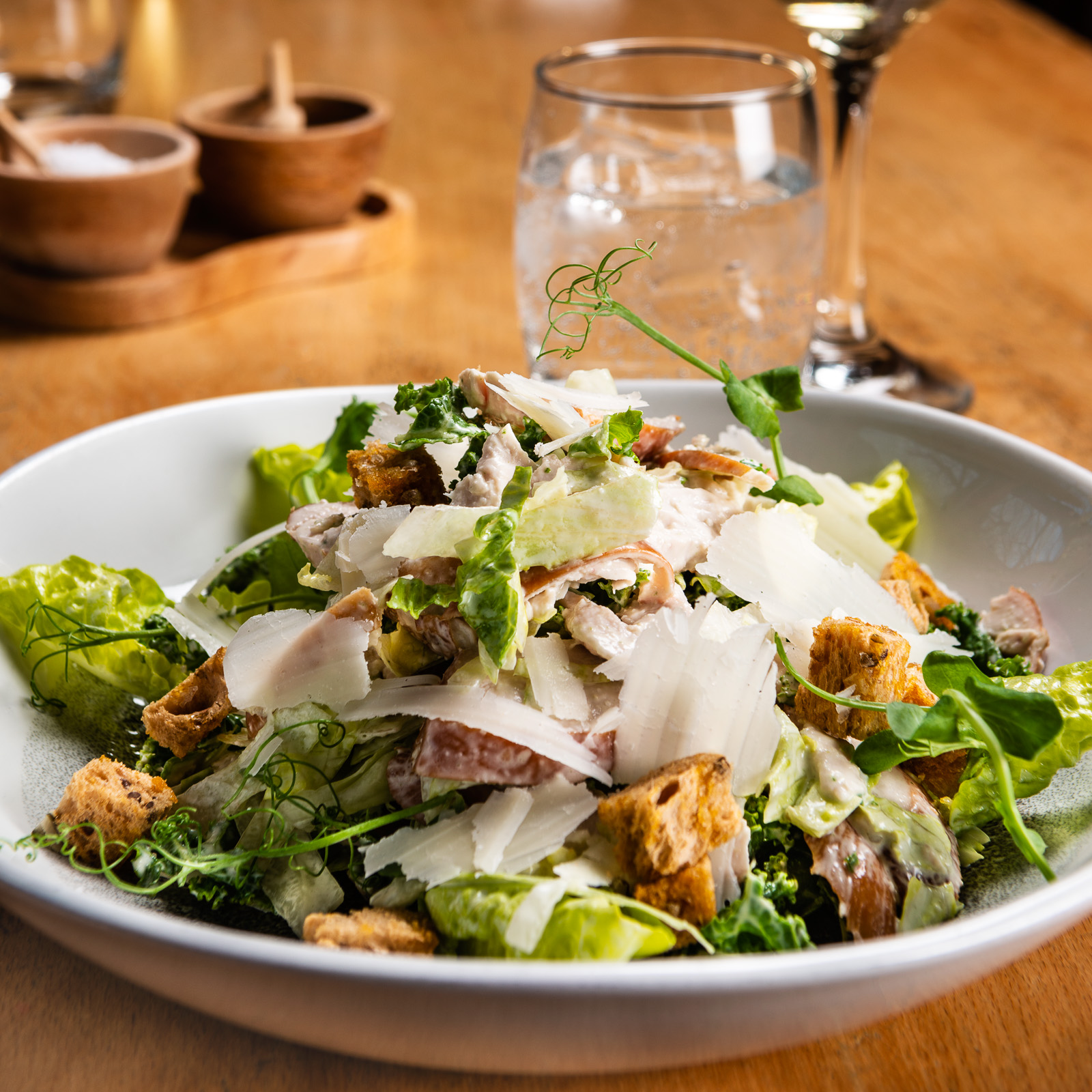 Smoked Chicken Caesar Salad from Searcys at The Alnwick Garden Treehouse - Photography by Sue Todd Photography