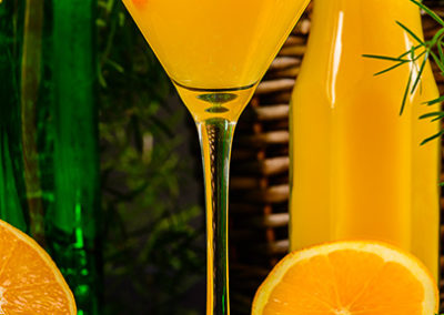 Orange Blossom Cocktail. Photography by Sue Todd Photography.
