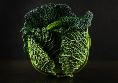 Savoy Cabbage on black Slate. Sue Todd Photography.