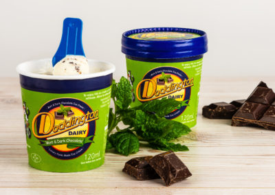 Mint & Dark Chocolate Ice Cream from Doddington Dairy. Photography by Sue Todd Photography.